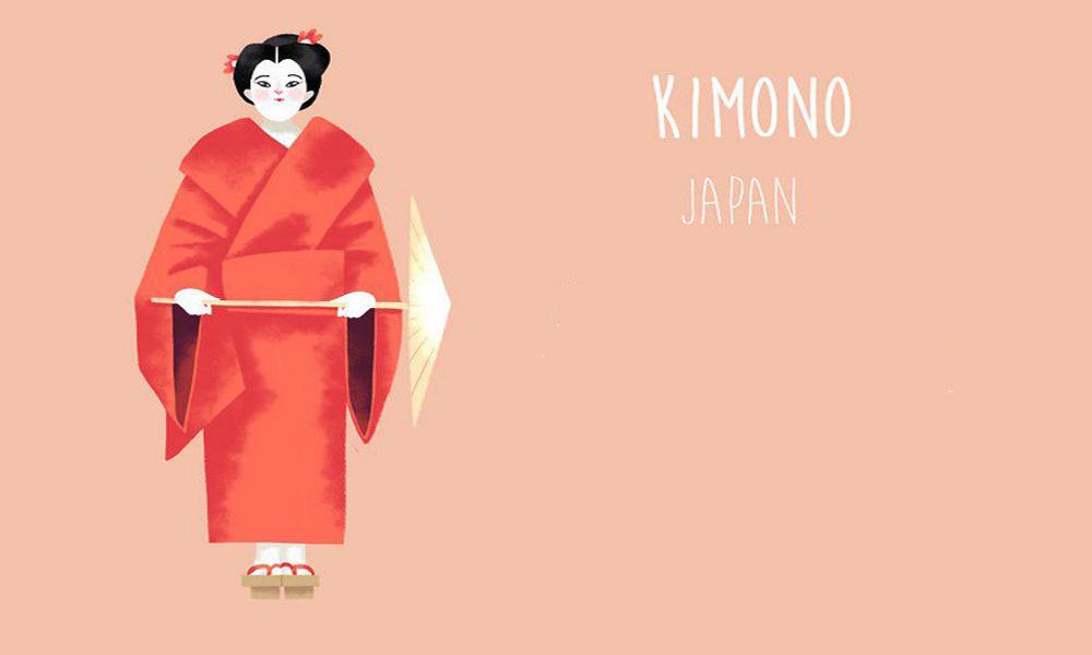 کیمونو، ژاپن