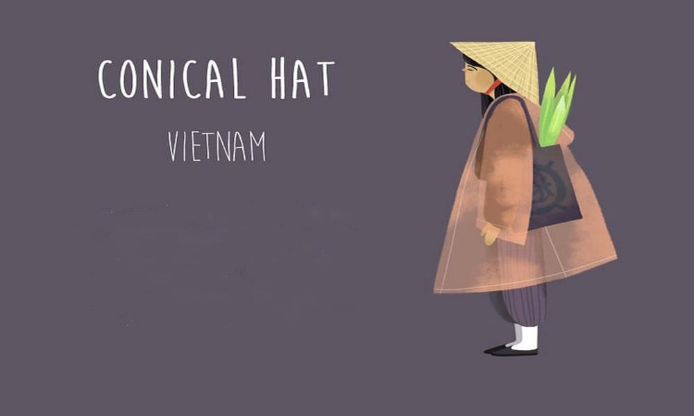 کلاه مخروطی حصیری، ویتنام