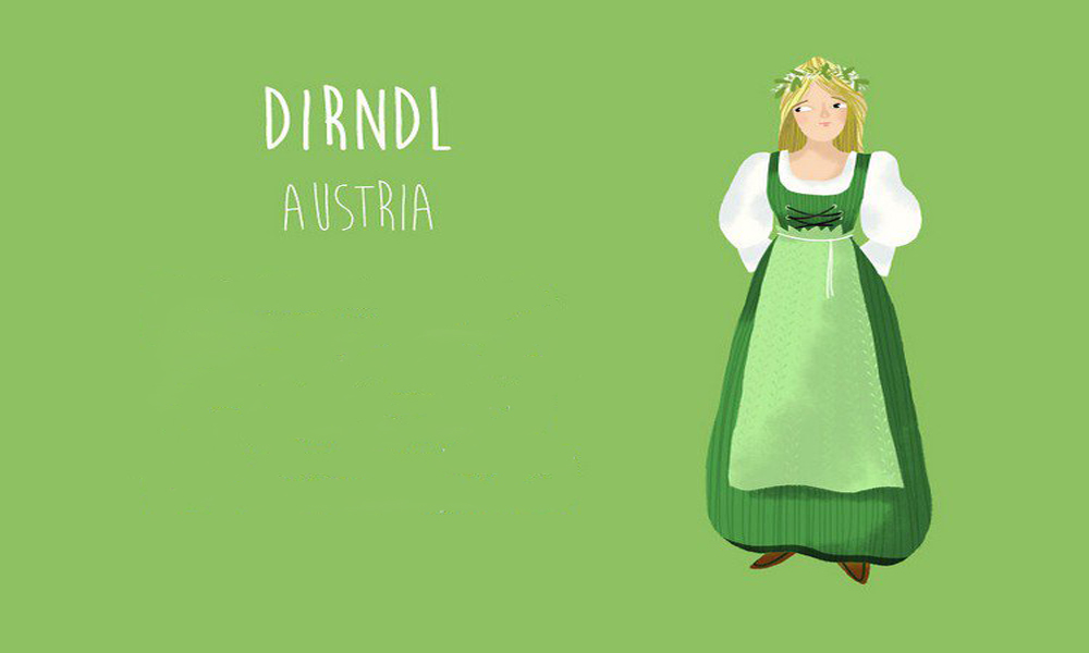 دیرندل(Dirndl)، اتریش