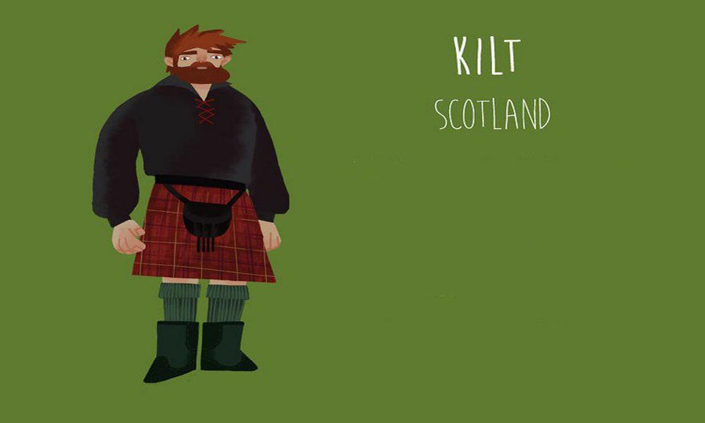 کیلت(Kilt)، اسکاتلند