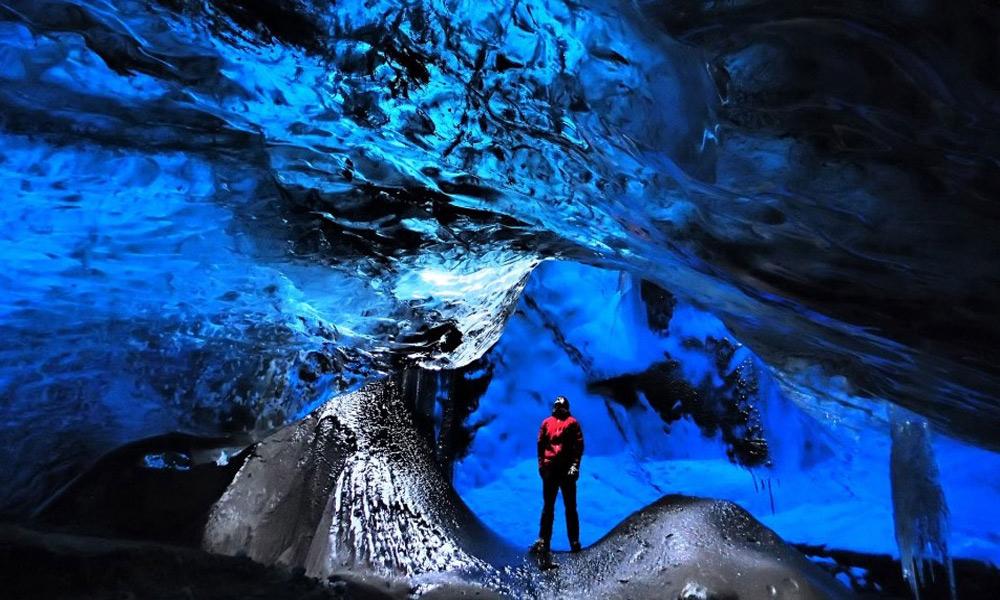 غار یخچال Vatnajokull، ایسلند
