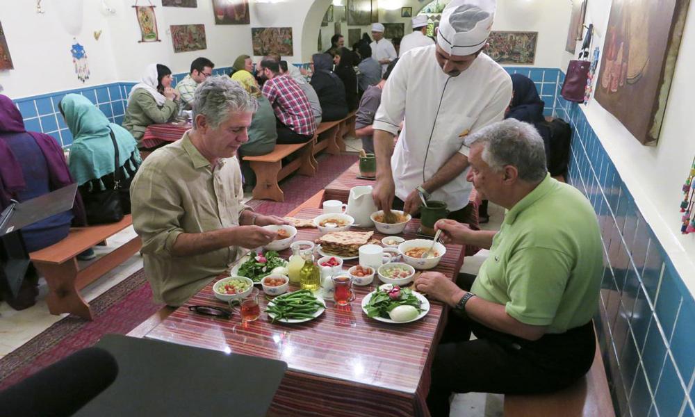 آنتونی بوردین در سفری به ایران
