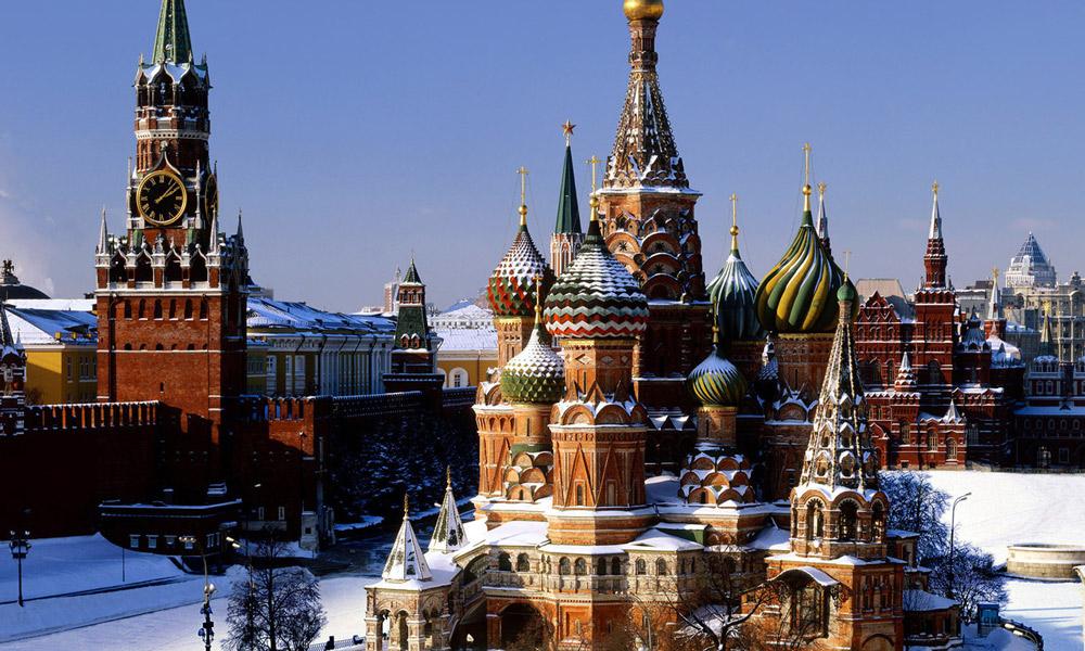 کاخ مشهور کرملین در مسکو