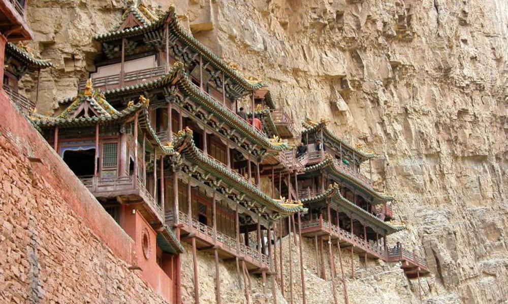 معبد معلق، چین