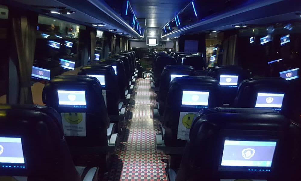 مانیتورهای خصوصو در اتوبوس های وی ای پی