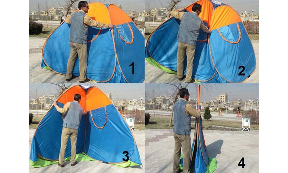 بستن چادر مسافرتی فنری
