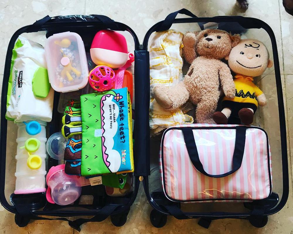 چمدان کودکان در سفر