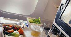 استفاده از سینی غذا در هواپیما