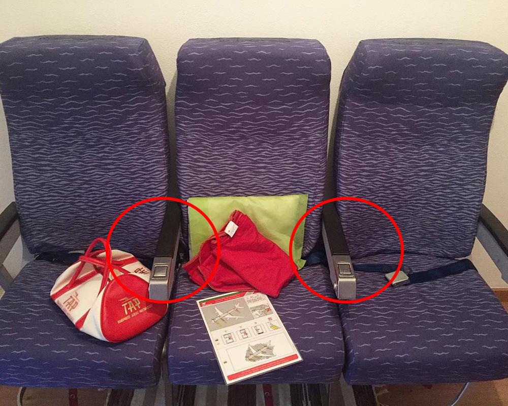 دسته های مشترک در صندلی های هواپیما و حریم شخصی