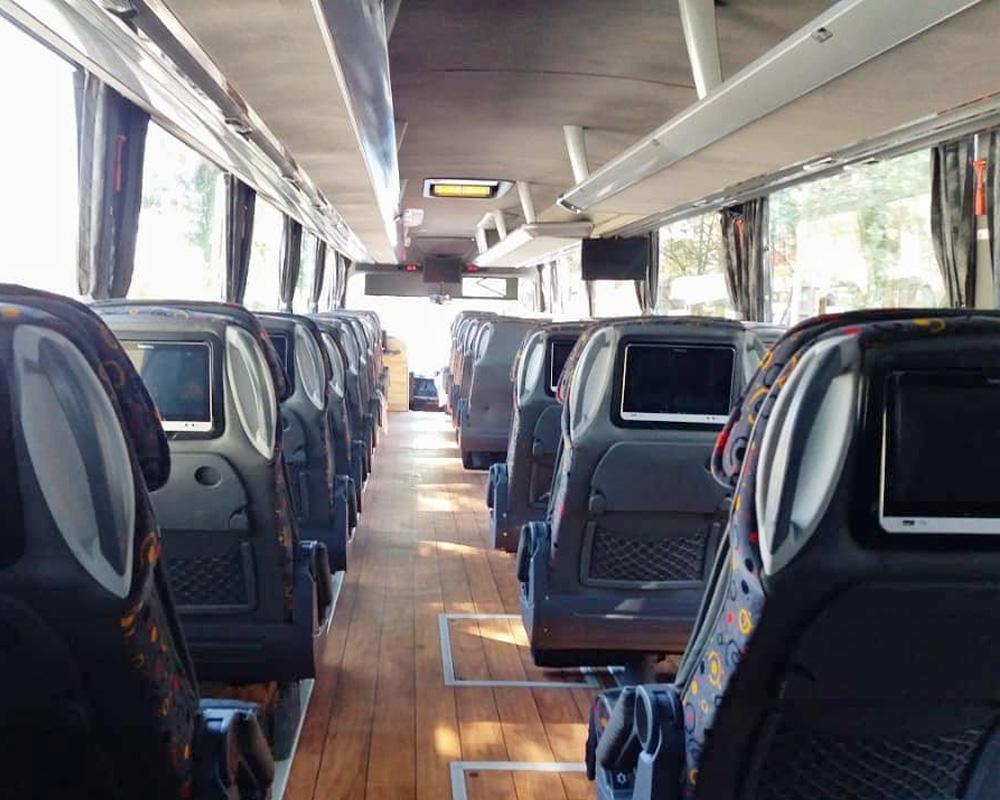 صندلی های مانیتوردار در اتوبوس های vip